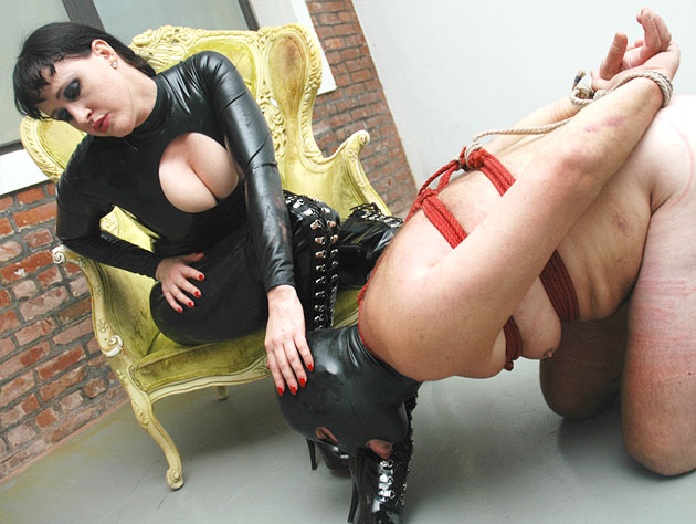 Obedient Slave Worshipping His Mistress