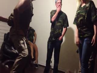 hot blonde kicks us marine