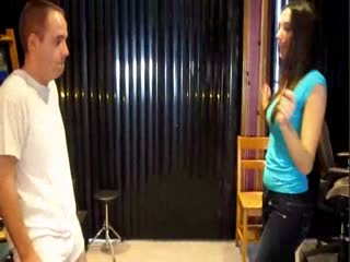 Bratty Bunny's First Ballbusting Experience