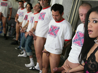 Jayla Starr and a lot of white cocks