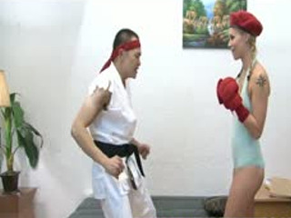 Street Fighter Teen Ballbusting And Fucking