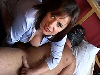 Busty Brunette Mistress Knows How To Treat Her Slave