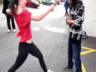 (Alternate Angle) My Friend Kicks Me in the Balls Twice in Hot Yoga Pants