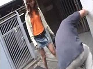 Uppergraphixx - Japanese girl in denim skirt