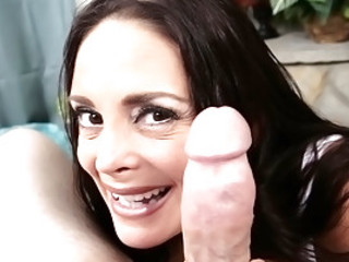 Cheyenne Hunter Strips And Sucks A Big Cock