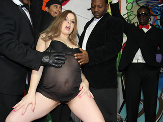 Huge black cocks for Kinzy Jo's mouth