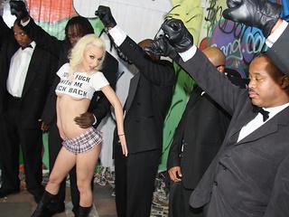 Jada Stevens taking care of huge black dicks
