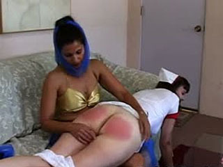 Party girls get a spanking