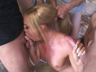 Lauren Phoenix gangbanged on a bachelor party