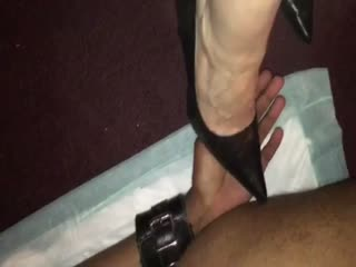 Hand Trampling With Pointy Black Heels