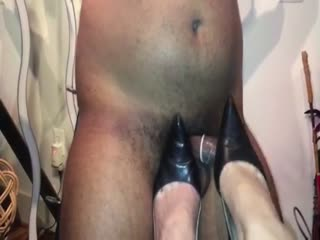 Ballbusting With Pointy Black Heels - Part 1