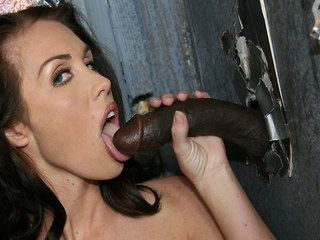 Sexy Maggie Matthews working the gloryhole