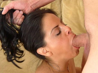 Mikayla has no problem sliding an enormous thick long dick deep down her throat