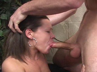 Sluts Jenny and Jessica getting cock rammed down their throats