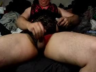 Cross D Red n Black Lace Cock Attack