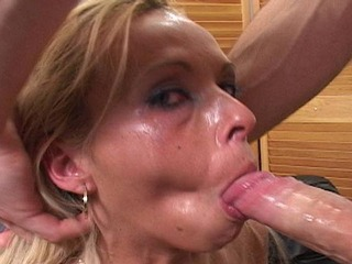 Jessica Taylor enjoys giving a deep throat blowjob
