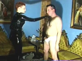 Latex Suit Lady Vs Tighty Whities Part 2