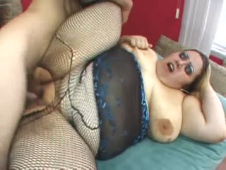 Mistress Monique fucked in her fishnets