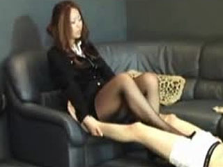 Japanese Ballbusting Footjob And Stomping