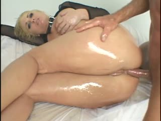 Two dicks taking turns on her tight asshole