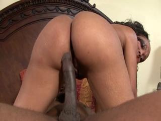nice ebony ass bouncing on a hard cock