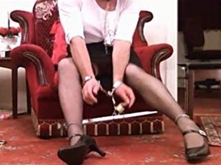 Crossdressers in bondage videos have all