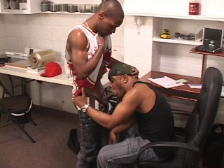 Black guy enjoys some gay ass stretching