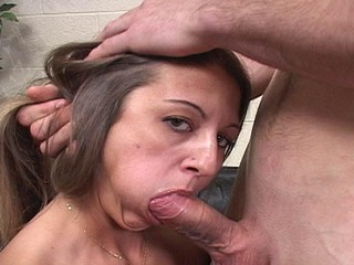 Shanny gives a deepthroat blowjob