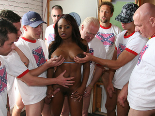 A massive bukkake for Jada Fire