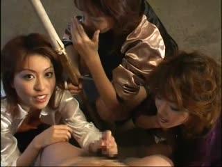Japanese Tied Man Ballbusting Fetish