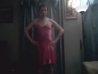 lady in red satin