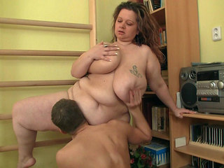 Fat slut and the coach get it on