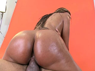 Jayla is giving a blowjob then they begin having sex and she begins to ride his cock