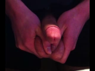 cum squeezed out of balls