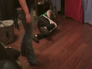 brown boots balls kick and stomp