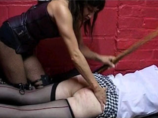 Sexy Mistress Trains Her Male Slaves In The Dungeon