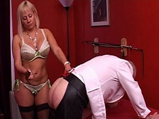 Mature Mistress Humiliates Her Slave