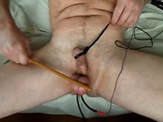 Electro Stimulated Balls Caned Hard