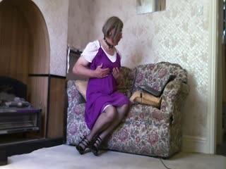 Purple Dress Pose