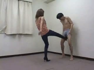 Asian Girls Ballbusting