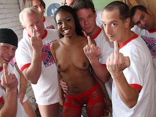 Nina Devon sucks a lot of white dicks