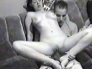 Girl sucks dick and very quickly appears on its top