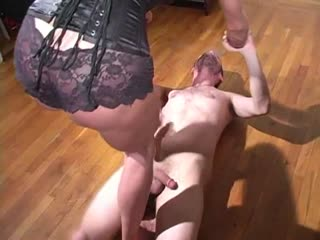 Mistress Trish surfing on balls!
