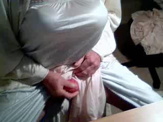 Nylon lingerie play