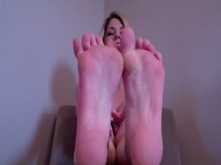 My feet make you so hard, don't they you little foot freak?