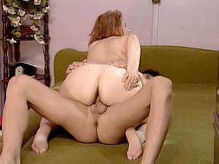 Curvy Mature Rides a Cock