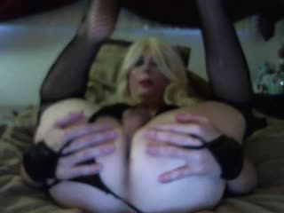 Sexy Blond Crossdresser Tasha Dirty Talking