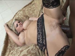 Sexy Julia Ann fucking a black dick