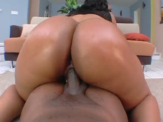 Big black booty riding a horny cock