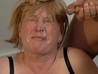 Crazy old lady is drilled